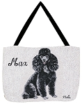 Black Poodle Dog Tote