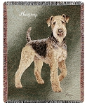 Airedale Dog Throw