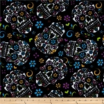 Day of the Dead Skulls Flounder Bed