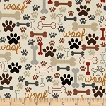 Dog Bones and Pawprints Collar Cover