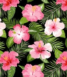 Pink Tropical Flowers Wiggles