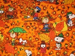 Snoopy with Falling Leaves Through the Collar Bandana
