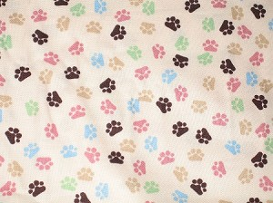 Pastel Pawprints collar cover