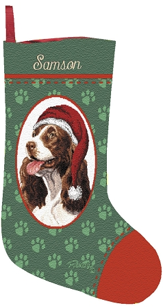 Home Dog Stockings Springer Spaniel Christmas Stocking