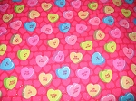 Sparkle Conversation Valentine Hearts Through the Collar Bandana