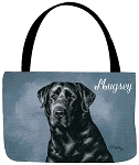 Black Lab Dog Tote