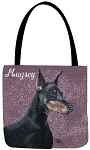 Doberman Dog Tote