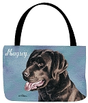 Chocolate Lab Dog Tote