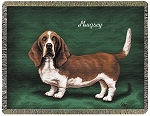 Basset Hound Dog Throw