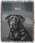 Black Lab Dog Throw