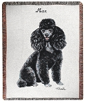 Black Poodle Dog Throw