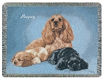 Cocker Spaniel Dog Throw