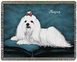 Maltese Dog Throw