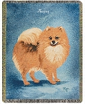 Pomeranian Dog Throw