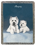 West Highland Terrier Dog Throw