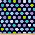 Dots on Navy Snuggle  Sack