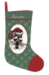 Schnauzer Christmas Stocking