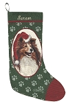 Sheltie Christmas Stocking