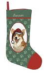 Welsh Corgi Christmas Stocking