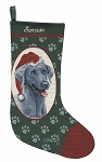 Weimeraner Christmas Stocking