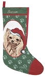 Yorkie Christmas Stocking