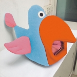 Blue, Orange and Pink Bird Bed