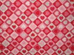Checker Board Hearts Valentine Through the Collar Bandana
