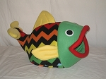 Rainbow Chevron Flounder Bed