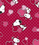 Snoopy Valentine Hearts Through the Collar Bandana