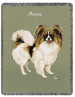 Papillion Dog Throw