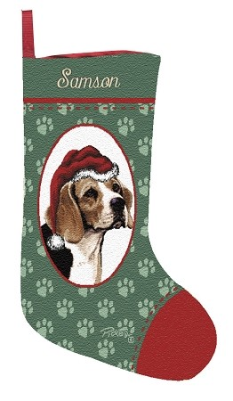 Beagle Christmas Stocking