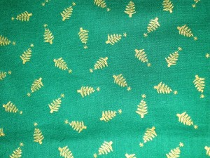 Green with Gold Tree Through the Collar Bandana