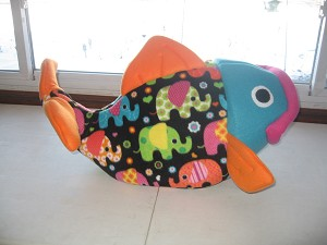 Colorful Elephants Flounder Bed