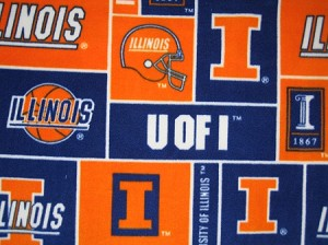 Illini Through the Collar Bandana