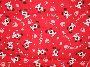 I Woof You Hearts Collar Cover