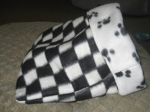 Checkerboard and Pawprint Snuggle  Sack