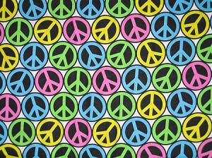 Peace Signs Collar Cover