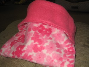 Pink Flowers Snuggle  Sack