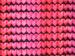 Rows of Hearts Valentine Through the Collar Bandana