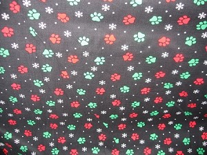 Bright Pawprints and Snowflakes Collar Cover