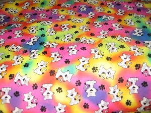Tie Dye Cats and Paws Face Mask